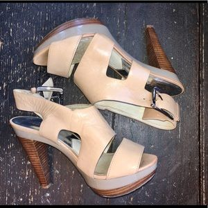 Michael Kors Nude Heeled Sandals Size 6.5